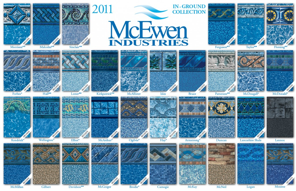 vinyl lined inground pools what are the new in ground liner patterns for 2011 inground