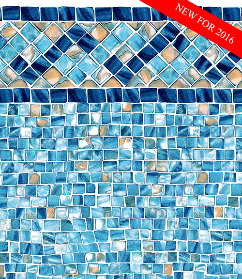 this new liner pattern features a fresh new look with an updated design the mother of pearl accents combined with the mix of blues and turquoise colors