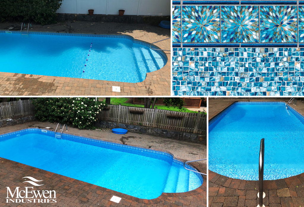 Ross in-ground swimming pool liner pattern | Inground Liners ...