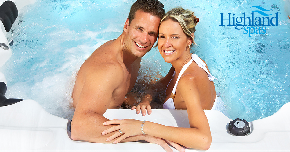 happy couple in highland spa