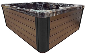 brown spa cabinet